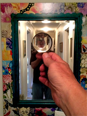 Look! My Head Flipped! (byzantiumbooks) Tags: self mirror magnifyingglass