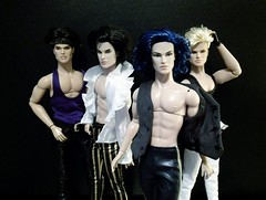 Boy band goals (screamboy19) Tags: doll toys integrity boy 80s misfits raymond eric stinger riot sean homme holograms the jem band craig phillips stingers