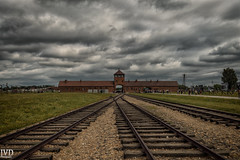 Auschwitz Birkenau (JvD_Photographie) Tags: auschwitz polen polska poland germany camp history geschichte deutschland train memorial museum dark clouds gedenksttte