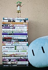 The check , Bookseller!  (Damien Saint-) Tags: danbo revoltech toy vinyl danboard amazon yotsuba manga dango