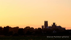 Cathreal from the Drove (Outdoorjive) Tags: other desktop sunsetsunrise flikr historic cathederalchurchtemple places summer eastanglia uk eastcambridgeshiredistrict england unitedkingdom gb