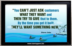 You Cant just ask customers what they want and then try to give that to them. By the time you get it built,Theyll want something new (Startuppers.biz) Tags: quote quotes business startups startup startuppers ask customers want give build new