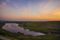 Greenbooth Sunset (manphibian) Tags: greenbooth reservoir norden rochdale naden middle upper lake england countryside english sunset sunrise pastel tones water sky orange purple blue sony sonya7 sigma 24105 art