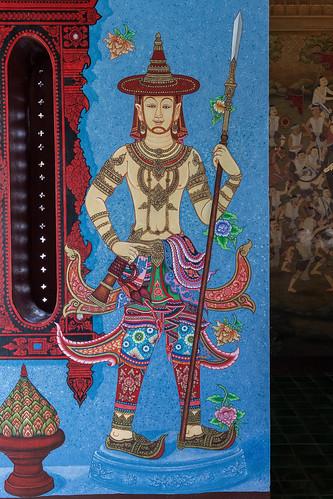 2016/07/25 11h34 fresque, Sao Intakhin (Wat Chedi Luang)