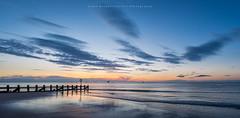 Good Morning! (LoneWolfA7ii) Tags: purple sunrise beach aberdeen water sea art light sky clouds sand groyne sony a7ii blue summer shore orange