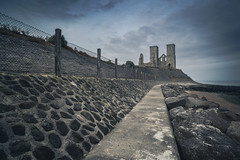 Reculver Path (scott.hammond34) Tags: landscape seascape reculver reculvertowers kent sunrise path seadefences leadlines fence cloud sky movement rocks outdoor carlzeiss21mmf28 canon6d fort