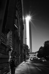 Lighthouse Frankfurt (RadarOReilly) Tags: frankfurt germany stadt town street strase streetphotography strasenfotografie sw schwarzweis bw blackwhite monochrome gebude building skyscraper wolkenkratzer
