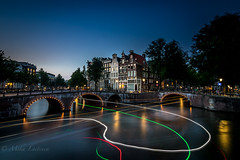 Ghosts in Amsterdam (Mika Laitinen) Tags: amsterdam canon7dmarkii leefilters netherlands architecture blue bridge calm canal city cityscape color colorful dusk longexposure nightfall serene summer twilight water wideangle noordholland nl ~themagicofcolours~xiii