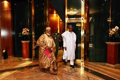 President Buhari receives in audience H.E. Abdulsalam Abubakar Former Head of State in Statehouse2