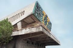 BATMAN S DEN ? TECHNICAL COLLEGE AUDITORIUM // TBILISI // GEORGIA (Demipoulpe) Tags: batman caucasus tbilisi architecture icarus soviet cccp sovietarchitecture brutalim brutalistarchitecture concrete bronze gold