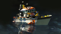 The Ocean Blues (Kyle Hardisty) Tags: lego kyle hardisty macro photography water drop coastguard boat set minifig minifigure scale fig outdoor flickr 2016 microscale moc creation depth field canon outside outdoors vehicle custom build mini figure desolation legos