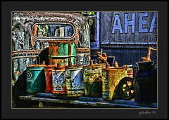 Got Gas (the Gallopping Geezer 3.8 million + views....) Tags: vehicle automobile truck car transportation travel old vintage historic abandoned decay decayed worn faded derelict forgotten masonmotors mason mi michigan upperpeninsula collection graveyard display canon 5d3 tamron 28300 geezer 2016