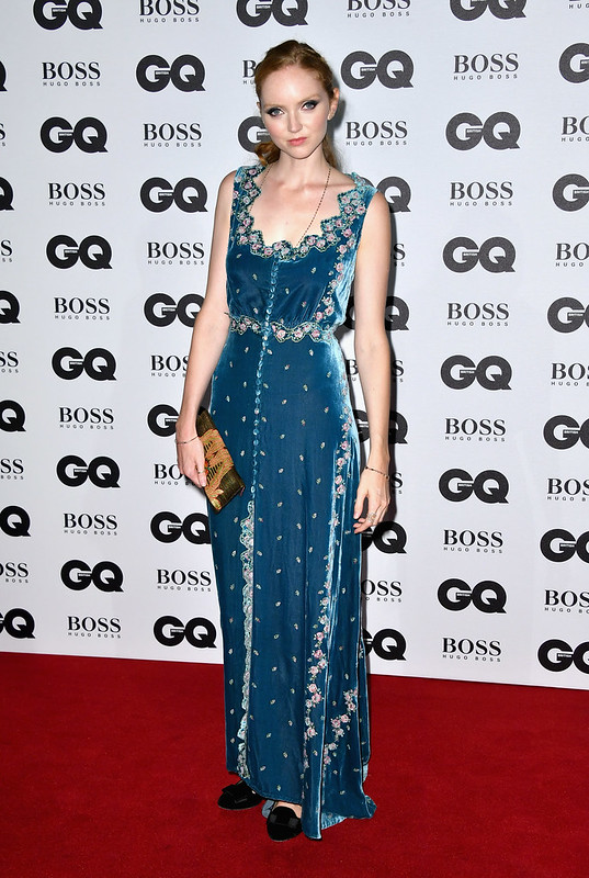 lily cole arrives for gq men of the year awards 2016 at