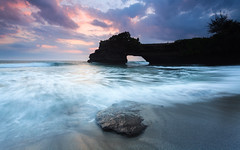 don't know why (chocoorange) Tags: tanahlot bali sunset indonesia beach rock wave