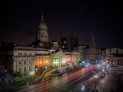 More Buenos Aires (karinavera) Tags: travel nikond5300 buenosaires urban night building street architecture congreso argentina traffic cityscape longexposure city