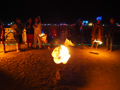 Burntanical Garden (michicat) Tags: burningman brc blackrockcity playa nevada burningmanatnight fire fireart