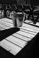 Week 38 of 2016 (PabloClavo) Tags: bw blackandwhite shadows bucket medallion canon well