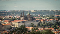 Hradany / St Guy Cathedral + Presidential Palace (Patrice Faur) Tags: prague stguycathedral cathdrale cathdralestguy chateau chateaudeprague ceska praha hradany 50mmdtf18sony sonya57 sony