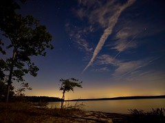 Sunset over Jordan lake in NC (sublowe) Tags: nightphotography lake stars starrynight astrophotography sunset