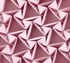 Glamour #origami #tessellation #corrugation (_Ekaterina) Tags: origami corrugation tessellation pink rose mosaic triangles tant paper paperfolding ekaterinalukasheva