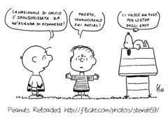 Sponsorizzazione discutibile (Peanuts Reloaded) Tags: snoopy peanuts peanutsreloaded comics drawing vignette fumetti charliebrown linusvanpelt calcio fgci italia scommesse bet