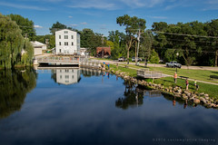 the old mill pond (contemplative imaging) Tags: 2016 20160903 ciwiscnesh20160903ep5 marquettecounty neshkoro september america american clear contemplativeimaging day digital ep5 fisherman fishermen fishing midwest midwestern millpond olympus photo photography reflection ronzack saturday summer sunny usa warm wi wisc wisconsin pond mill landscape 169
