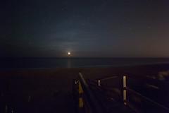 Junction (Justin T. Arthur) Tags: longexposure moon beach stars sand northcarolina junction luna outerspace outerbanks lunar atlanticocean obx theouterbanks southernshores cosmicocean mockinbirdtrail