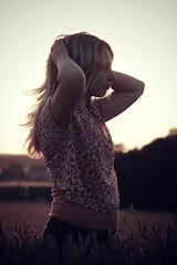 (Charlotte Catherine) Tags: sunset summer portrait sun girl field contrast pose dark hair evening lucy lyrics model corn cornfield warm shoot purple bokeh profile warmth dreams personalfavourite rotation favourite tones impromptu edit wisps fleetwoodmac scheduled flyaways darktones canoneos550d