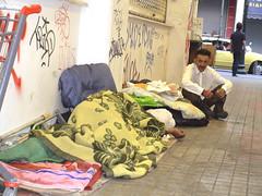 Homeless people, Monastiraki (Maria Kalyviotou) Tags: poverty homeless athens greece financial economy crisis