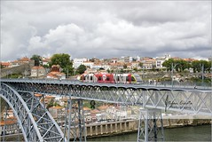 Tram on Luis Bridge | Porto, Portugal (Stefan Cioata) Tags: travel vacation holiday detail beautiful photography photo site scenery image sale exploring details great stock scene best explore getty destination top10 available outstanding touristical flickrandroidapp:filter=none