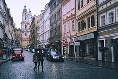Prague (Nicola Abraham) Tags: street city travel summer film rain analog republic czech prague