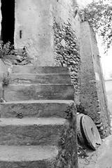 Calabria - Caulonia - Vecchio frantoio (Sergio Vaiani) Tags: italy architecture stairs composition landscapes blackwhite italia forms calabria architettura bianconero paesaggio forme composizione caulonia italiantowns sergiovaiani
