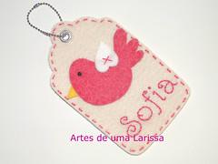 Tag Passarinho (Artes de uma Larissa) Tags: lembrana tag feitomo artesanal craft batizado passarinho beb menina aniversrio nascimento maternidade enfeite lembrancinha
