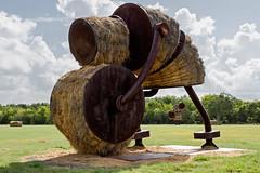 Makin' Hay (digital_AM) Tags: park sculpture sanantonio hay openfield hardbergerpark