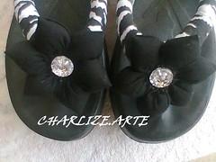 ARTE2 (Nina.artes) Tags: flores havaianas fuxico chinelos tecido personalizados
