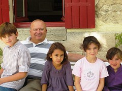 Didier Cuvelier at Le Crock with his family