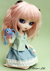 Thank you!  (pure_embers) Tags: uk pink cute monster thanks eos doll dolls colours puppet you pastel thank cocktail wig pullip pure polkadot embers lilli leeke obitsu leekeworld