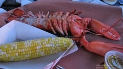 Grilled lobster and sweet corn (Coyoty) Tags: red food yellow river restaurant corn sweet connecticut bbq vegetable barbecue lobster seafood smoky seymour grilled smoked woodfired surfturf riverviewbbq