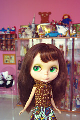 nana in a toy museum hahah (girl enchanted) Tags: ikea glass vintage toy toys dolls display shelf collection kenner barbies smurfs collectibles pandas dollies toyroom kartell dollyroom