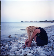 It must be nice to disappear (Fabio Sabatini) Tags: sea film analog mediumformat turkey kodak tide hasselblad greece portra samos planar kodakfilm carlzeiss 501cm filmphotography 80mmf28 shootingfilm mycale  ektar100 dryoussa believeinfilm mycalestrait