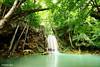 Erawan Waterfall, Thailand (Tiniroma ^^) Tags: park blue green water rock forest canon landscape thailand waterfall asia view falls national waterfalls retouching gledhill supershot 60d longexposurea skuringgai