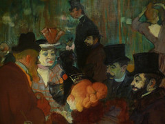 Toulouse-Lautrec, At the Moulin Rouge with self-portrait