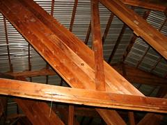 wooden skeleton (Szymek S.) Tags: roof canada building loft port river fishing harbour britishcolumbia delta richmond fraserriver beams steveston fisheries netloft fraserdelta