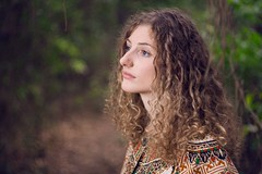 (Justin Rashall) Tags: portrait woman color girl forest outside photography photographer natural profile blonde curlyhair canondigitalrebelxt helios442 justinrashall