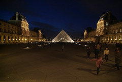 LouvrePyramid01f (midorisyu) Tags: light glass museum architecture night pyramid louvre contemporary musedulouvre ieohmingpei louvrepyramid  grandlouvreproject