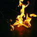 <p>Burning clathrates of methane hydrate inside a University of Hawaii lab. Photo: Stephen Masutani, University of Hawaii, Hawaii Natural Energy Institute</p>