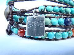Chan Luu inspired leather wrap (Rock'n Crystal) Tags: turquoise wrap charm sterlingsilver chanluu acceptchange rockncrystal