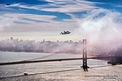The Space Shuttle Endeavour Over Golden Gate Bridge (davidyuweb) Tags: sanfrancisco california bridge usa last golden gate space flight over shuttle sfist the endeavour ov105 sfendeavour2012