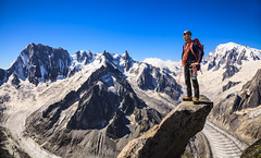 The summit! (Ulrik Hasemann) Tags: summer mountain france mountains alps canon landscape top august glacier climbing alpine granite mountaineering summit climber dslr chamonix mtblanc climbers 2012 climbs alpinism 24105 grandejorasses hasemannphotoscom