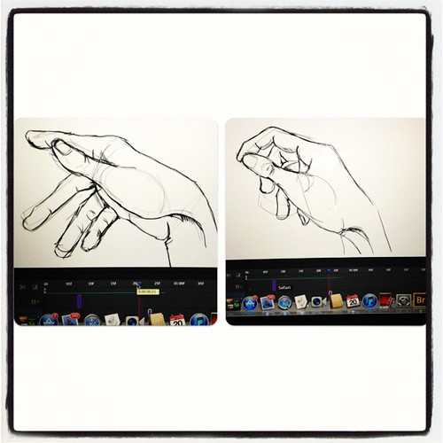 Stills from my animated hand sequence.